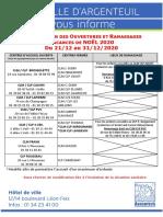 Info Familles - Modification-Ouverture_ramassage_Noël-2020