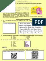 S5. - PRESENTE - La huella del árabe en la lengua española