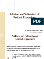 Addition and Subtraction of Rational Expressions(2)
