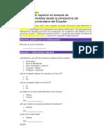 1. ENCUESTA. Influencia del Covid 19 en la Educacion Superior tics UTA