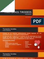 Tormenta tiroidea y Efectos adversos de fármacos