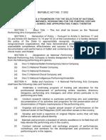 National Performing Arts Companies Act