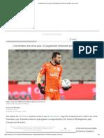 Corinthians anuncia que 10 jogadores testaram positivo para covid