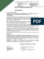 SUSPENSION DE LABORES POR REPARTO ALIMENTARIO