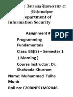 BSIS-1M-Muhammad Talha Munir -assingment 3