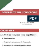 Generalite Sur l'Oncologie