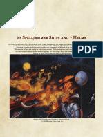 23 Spelljammer Ships and 7 Helms