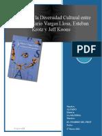 Análisis de la Diversidad Cultural entre artistas Mario Vargas Llosa, Esteban Krotz y Jeff Koons 27.01.2021
