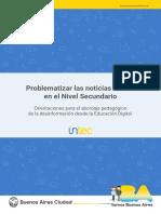 Problematizar Las Noticias Falsas en El Nivel Secundario