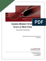 Spectrum New York Gaming Study Executive Summary, Final