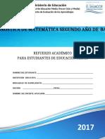 Prueba diagnóstica de Matemática  Segundo Año de Bachillerato - 2017-convertido