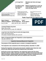 Grace Villa Ministry Inspection Report Dec 22, 2020