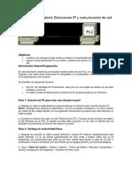 taller Direcciones IP y comunicacion de red.