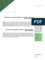 Perspectivas de análise geográfica do patrimônio cultural