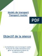 Résumé de transport routier
