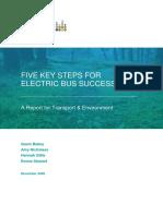 Five Key Steps for Electric Bus Success