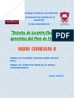 Reporte de Lectura-Elementos generales del Plan de Estudios