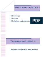 1 WHAT IS MANAGEMENT CONTROL