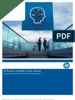 Datasheet Hp Business Availability Center
