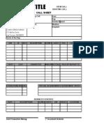 2.  Call Sheet