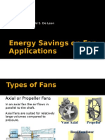 Energy Savings on Fan Applications
