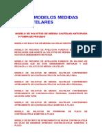 Modelos de Escritos en Materia Civil.medidas Cautelares