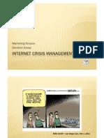 Internet Crisis Management