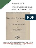 Albert DAUZAT - Glossaire étymologique du patois de Vinzelles