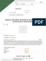 SAMUEL BOURNE, BOURNE & SHEPHERD, and JOHNSTON & HOFFMANN - Auktionen & Preisarchiv