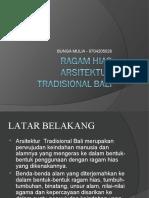 Ragam Hias Arsitektur Tradisional Bali