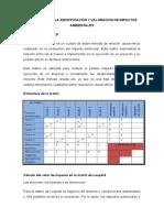 MÉTODOS PARA LA IDENTIFICACIÓN Y VALORACIÓN DE IMPACTOS AMBIENTALES