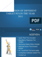 Comparison of Different Tablet Pcs in the Year 2011