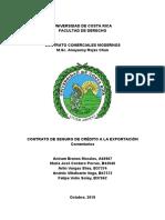 Trabajo Investigación.Contrato de seguro de crédito a la exportación