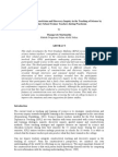 Contructivism & discavery Inquiry in the teacher of Sc