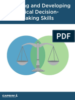 Assessing Developing Ethical Decision Making Skills