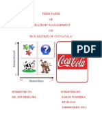 bcg matrix of coca cola