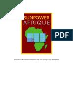 SunPower Afrique Bplan_FINAL_March2010