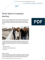 Seven steps to vocabulary learning _ TeachingEnglish _ British Council _ BBC