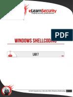 Lab7 Windows Shellcoding