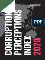 Izvještaj o percepciji korupcije za 2020.