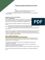 Considerações portarias - Apoios financeiros às Artes e Credenciação RTCP