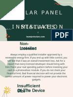 Solar Panel Installation Mistakes