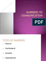 Barreirs to communication
