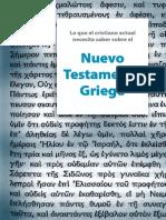 Lo Que El Cristiano Necesita Saber Sobre El NT Griego