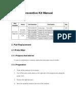 BC-5300 Preventive maintenance kit manual