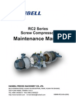 RC2 Series Screw Compressor Maintenance Manual
