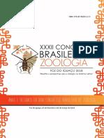Anais e Resumos Do XXXII Congresso Brasileiro de Zoologia 2018