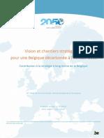 Contribution fédérale à la Stratégie à long terme de la Belgique (2020)