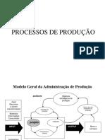 Processos Em Manufatura e Servicos