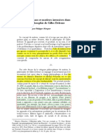 Dehors, chaos et matière intensive dans la philosophie de Gilles Deleuze (L)
